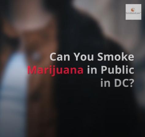 Is it legal to smoke marijuana in public in DC?